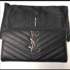 Saint Laurent Monogram Full Flap Wallet, NWOT
